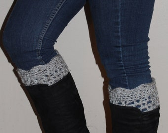 Crocheted Scalloped Edge Boot Cuffs