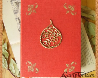 Fig journal, feminist notebook, fruit sketchbook, prosperity journal,red journal, orange journal,feminist gift for her, Mothers day gift