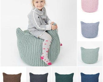 16 colors CAT POUF /floor cushion/ hypoalergic pouf/rope  poof/bean bag chair/ Ottoman
