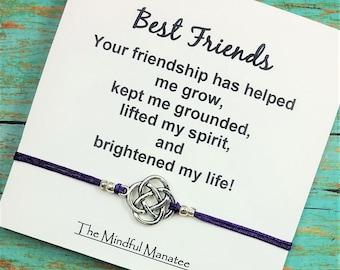 Best Friend Bracelet | Friendship Bracelet | Gift for Best Friend | Celtic Bracelet | BFF Gift | Gift for Birthday, Graduation