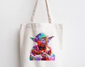 Yoda Art Star Wars Premium Cotton Tote Bag Ideal Gift Present