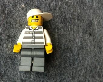 Lego man brooch or badge // 'villain' // Made in Rotterdam