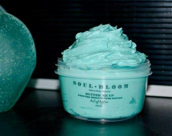 Whipped Body Butter - Caribbean Breeze - Shea Butter - All Natural - Organic - Handmade -  Moisturizer - Lotion - Body Mousse - Body Cream