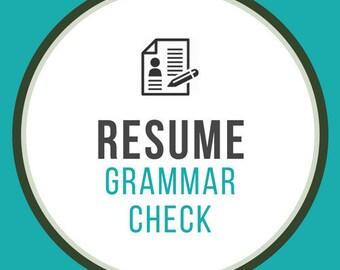 RESUMEREVAMPS | Grammar Check