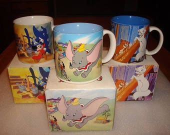 Three Different Collectible Ceramic Disney Mugs / Cups With Original Boxes SOLD SEPERATELY