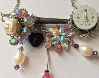 STEAMPUNK key necklace,