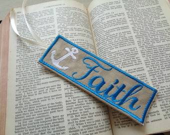 Unique Bookmarker, Cute Bookmark, Bookworm Gift for Book Lovers, Handmade Bookmarkers, Page Marker, Faith Bookmarker, Teacher Book Mark