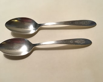 2 Bird of Paradise Serving Spoons