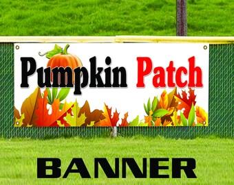 Pumpkin Patch Vegetable Shop Business Advertising Vinyl Banner Sign