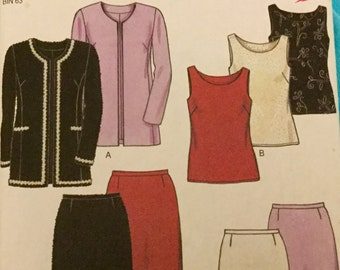 New Look 6921 Jacket, Top, Shirt and Skirt Pattern. Size 8-18, Uncut