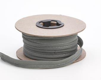 "Broadcloth cord piping, 1/2"" Wide, 15 yds, Smoke grey"
