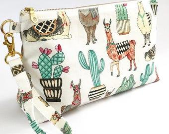 Llama Diaper Clutch - Llama Sling Clutch