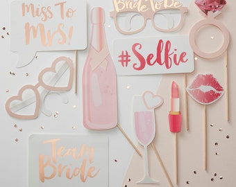 Hen Party Photo Booth Props, Photo Booth Bridal Shower, Wedding Photo Booth, Bride to Be Party, Hen Party Photo Props, Hen do, Bachelorette