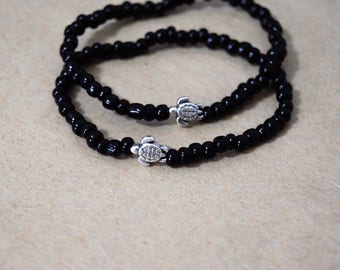 Sea Turtle Bracelet, 7 Color Options, Everyday Bracelets, Beaded Friendship Bracelet, Fall Bracelets, Beaded Ocean Bracelet, Beach Bracelet