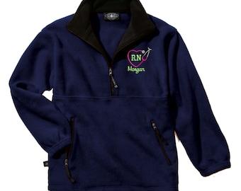Monogram Adirondack Fleece Pullover. Monogrammed Fleece pullover. Charles River Adirondack Fleece Pullover. Fleece Quarter Zip. CR: 9501 F44A8DcPiN