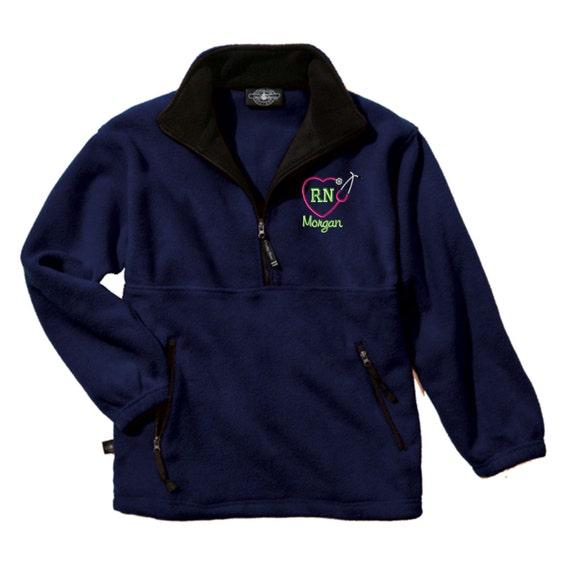 RN Nurse Heart Stethoscope Fleece Pullover Jacket. Nurse Fleece Pullover Jacket. Charles River Adirondack Pullover. CR: 9501 TWjcrgemj