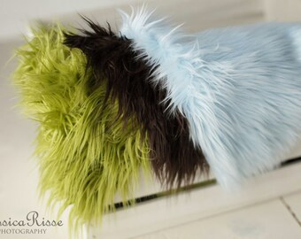 Mongolian Faux Fur Photography Prop Newborn Baby Photo Prop Soft Blanket Rug Nest Baby Picture Props Newborn Props for Photography Baby Prop