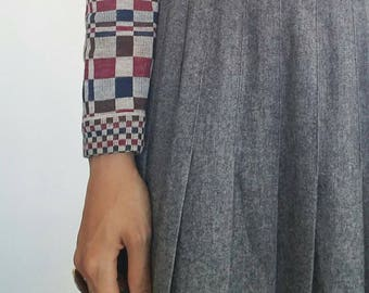 Checkered vintage button up sweater