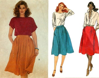 Vogue 7704 Vintage 1970s flared skirts in three versions sewing pattern