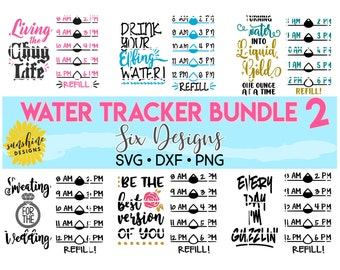 Water Tracker svg Bundle, Drink Your Effing Water svg, Water Intake svg, Water Bottle svg, Water Level Tracker svg, Water Measurements svg