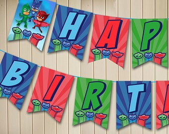 PJ Masks Banner // Instant Download - Available Immediately!