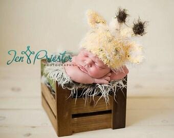 Baby Hat, Newborn Baby Hat, Giraffe Hat, Newborn Photo Props, Knit Newborn Hat, Photo Prop