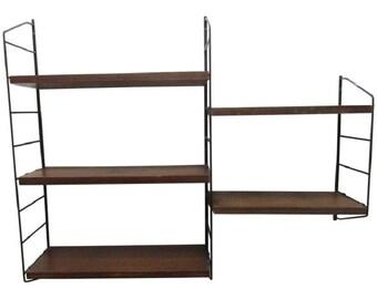 Bookcase in Teak and Five Shelves by Nisse Strinning for String, Sweden, 1950s