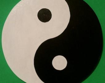 Yin and Yang handmade wall art