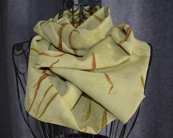 snood of cotton and viscose foliage