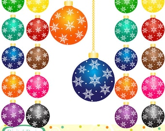 Christmas Baubles, 20 designs. INSTANT DOWNLOAD for Personal and commercial use.