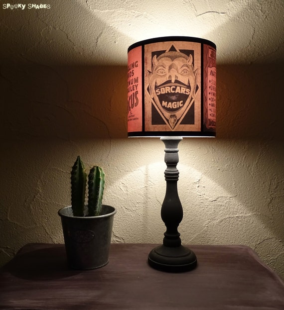 Circus sideshow brown drum lamp shade lampshade devil aloadofball Choice Image