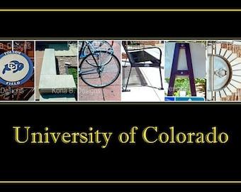 University of Colorado Alphabet Letter Photography 10x20 Print UNFRAMED