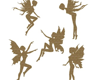 Tiny Fairies Set of 5 Laser Cut Chipboard FREE SHIPPING! in US