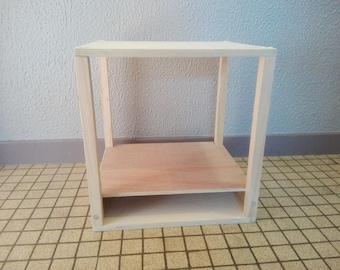 storage box or wooden shelf