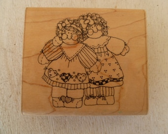 Luce Wood  Rubber Stamp Sister Act Too!