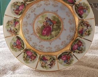 """Vintage Victorian """"Foreign"""" Stunning Decorated Plate!"""