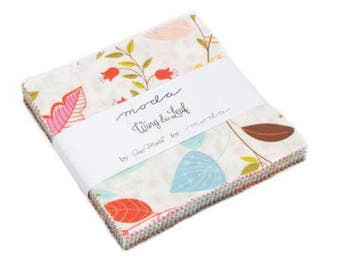 Wing and Leaf Charm Pack - Moda Quilting Fabric by Gina Martin