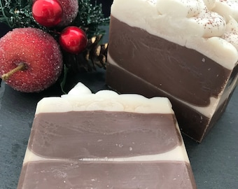Hot Cocoa Scented Handmade Cold Process Artisan Soap