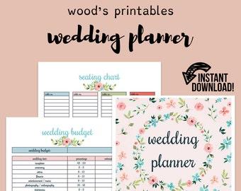 wedding planner printable