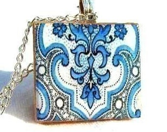 Blue Paisley--The ORIGINAL waterproof pendant.