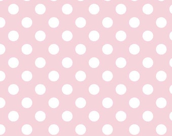 CLOSEOUT SALE Baby Pink Medium Dot by Riley Blake 1 Yard