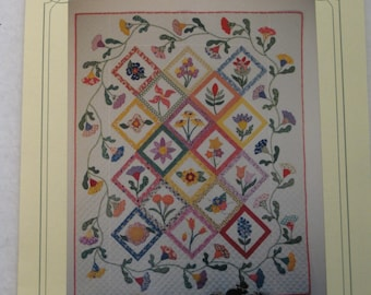 "Simple Pleasures Quit pattern ""Auntie's Garden"" 50"" x 62"""