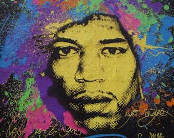 Jimi Hendrix Shirt. Vintage T-shirt. Graphic Tee. Top. Retro Black. Small. Abstract Graphic. Guitar genius. Musical Icon. Urban Streetwear.