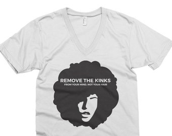 Women's Remove the Kinks T-shirt // Marcus Garvey Quote // Afro Hair