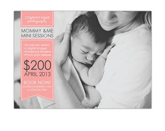 INSTANT DOWNLOAD - Mother's Day Mini Session template - Photoshop  template - E770