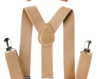 Axy Children beige Braces + beige fly-Groomsmen-ring bearer outfit-photo shoot-Birthday
