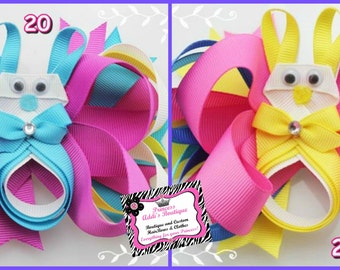 Big Bunny Hair Bows  for Baby to Big Girls
