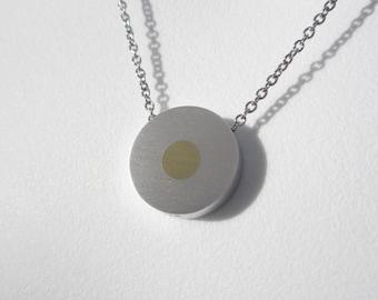 Minimalist Necklace – Minimalist Contemporary Jewelry – Brass Dot Pendant