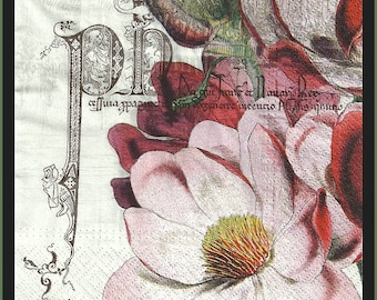 Decoupage Paper Napkins - Use For Decoupage, Mixed Media, Scrapbooking, Collage And Altered Art Projects