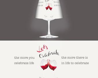 Glas Wein Laterne